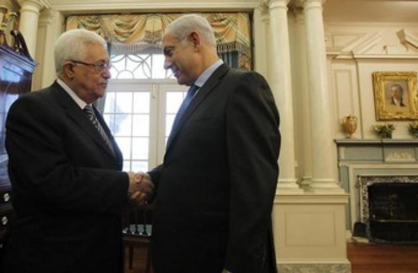 Netanyahu, Abbas 370 (photo credit: REUTERS/Jason Reed)