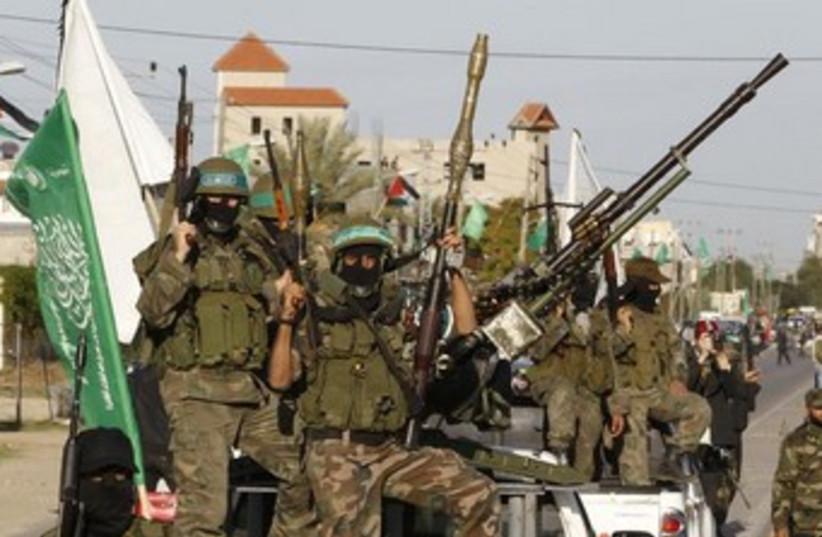 Hamas's Kassam Brigades 370 (photo credit: REUTERS/Ahmed Jadallah)