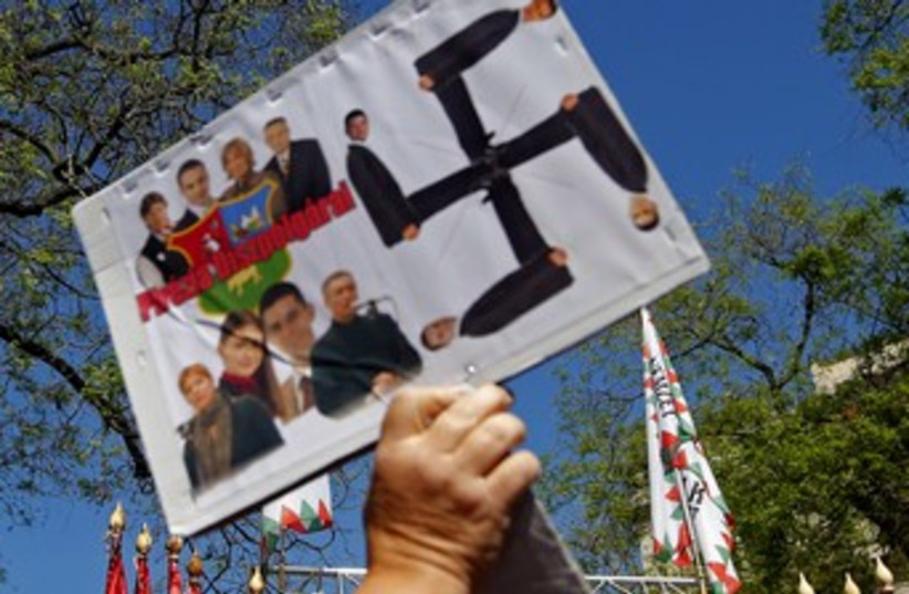 Far-right Jobbik party rally370 (photo credit: REUTERS)