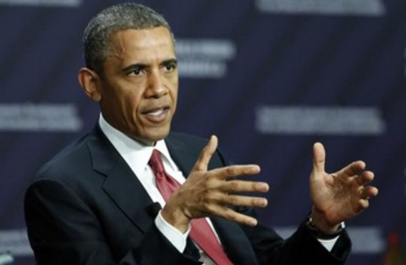 Obama talking with his hands 370 (photo credit: REUTERS/Kevin Lamarque)