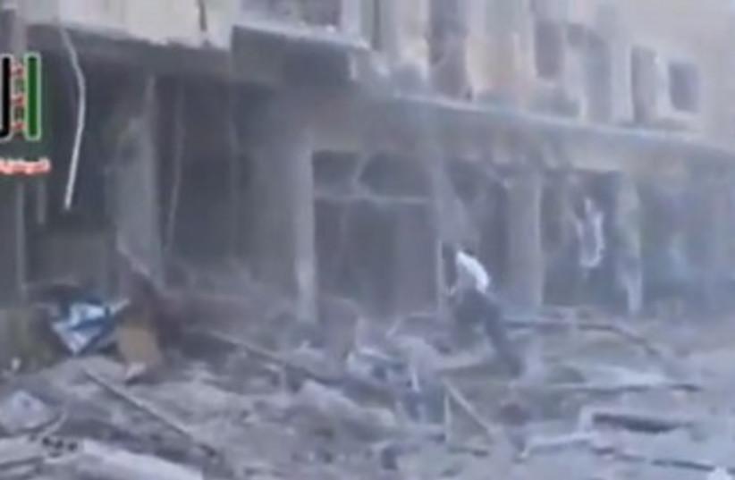 syria first strike 370  (photo credit: Screenshot)