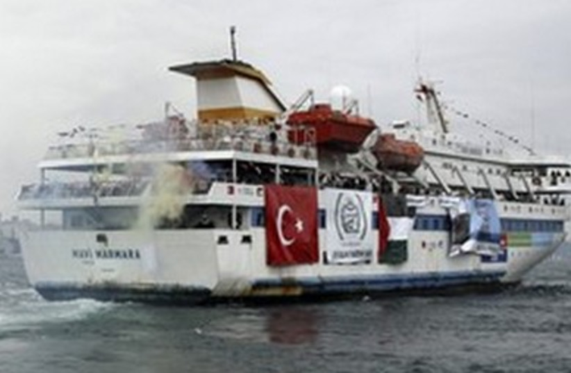 Mavi Marmara 390 (photo credit: Stringer Turkey / Reuters)