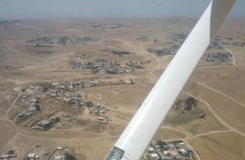 View of illegal beduin settlements  (photo credit: Ariel Ben Solomon)