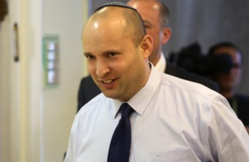 Naftali Bennett at cabinet meeting 370 (photo credit: Alex Kolomoisky/Pool/Yediot Aharonot)