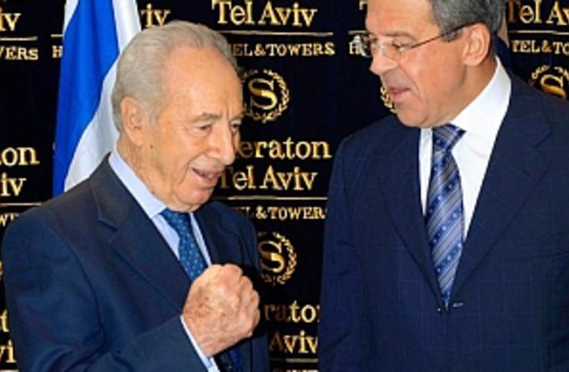 peres and Lavrov 298 ap (photo credit: AP)