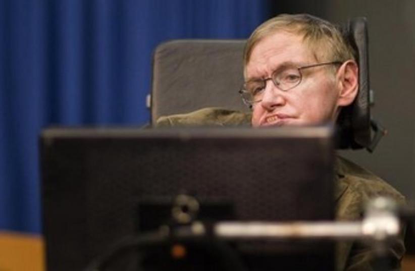 Stephen Hawking (photo credit: REUTERS/Valentin Flauraud)