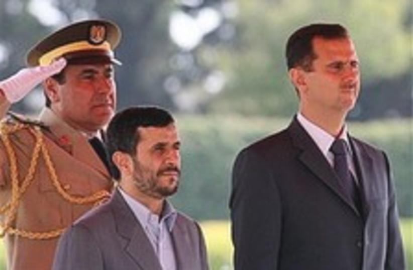 Assad Ahmadinejad 224.88 (photo credit: AP)