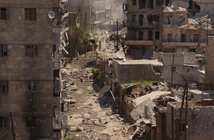 Destruction in Syria 370 (photo credit: REUTERS)
