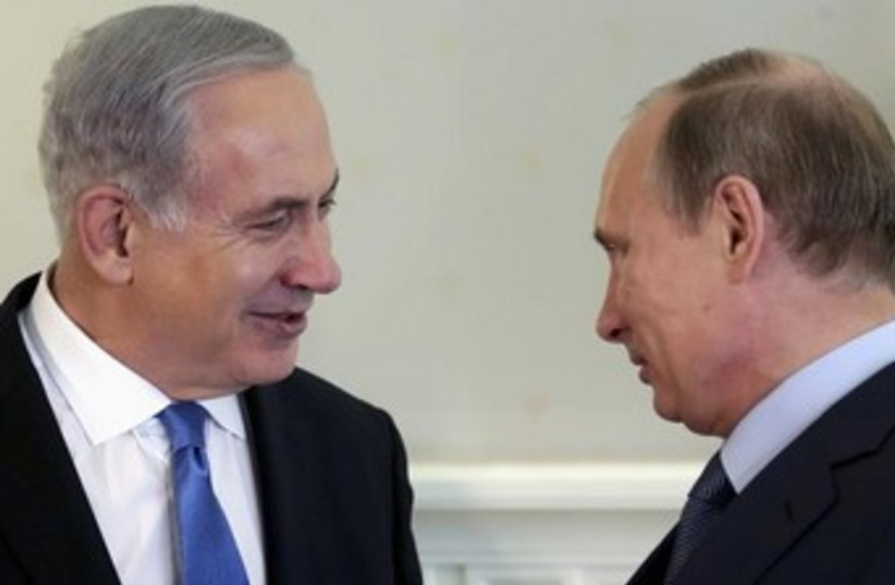 Netanyahu and Putin 370 (photo credit: REUTERS/Maxim Shipenkov/Pool )