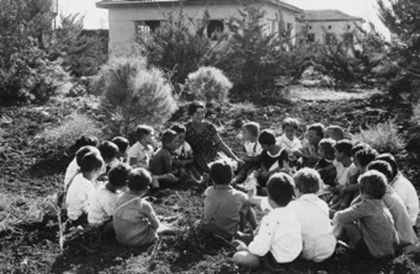 Kibbutz children, old black and white 370 (photo credit: courtesy)
