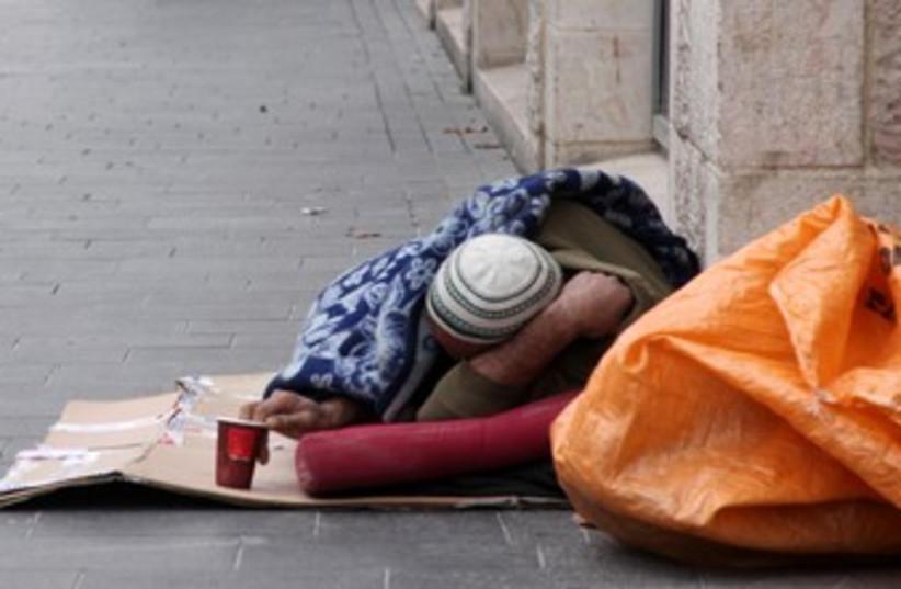 Homeless man 370 (photo credit: Marc Israel Sellem/The Jerusalem Post)