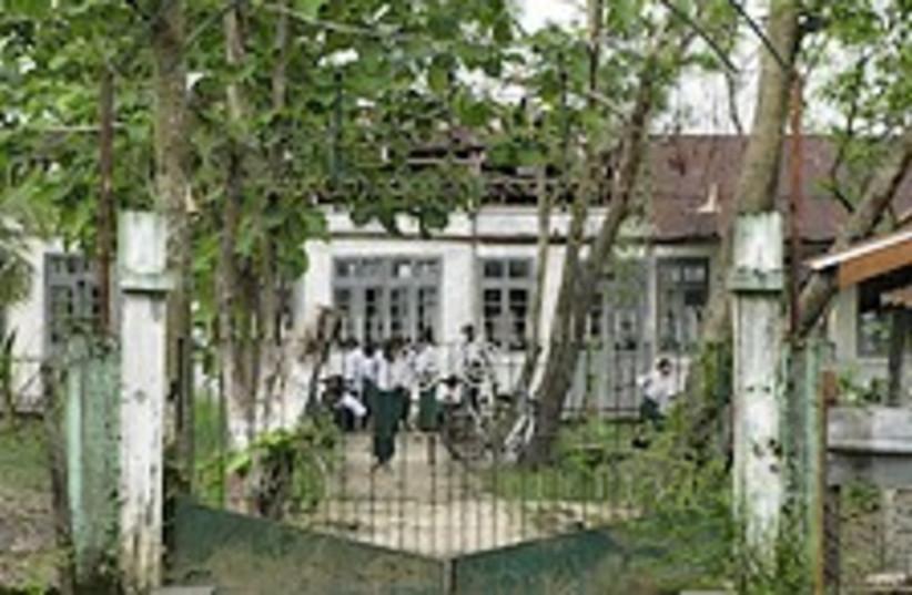 myanmar school 224.88 (photo credit: AP)