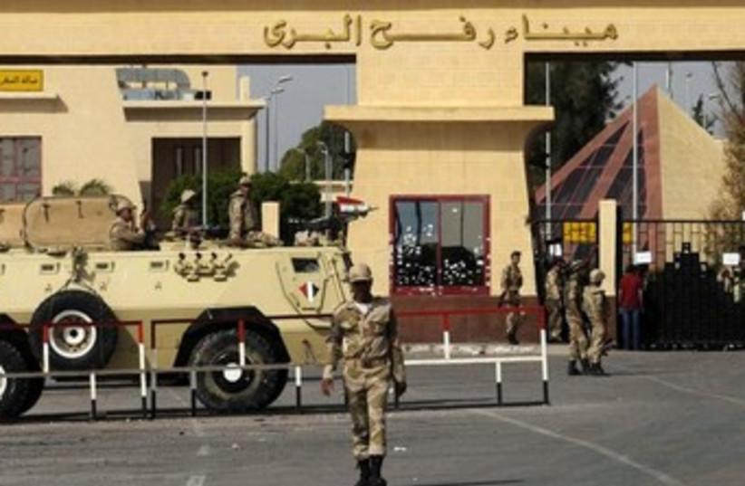 Rafah border crossing Sinai Gaza370 (photo credit: Reuters)