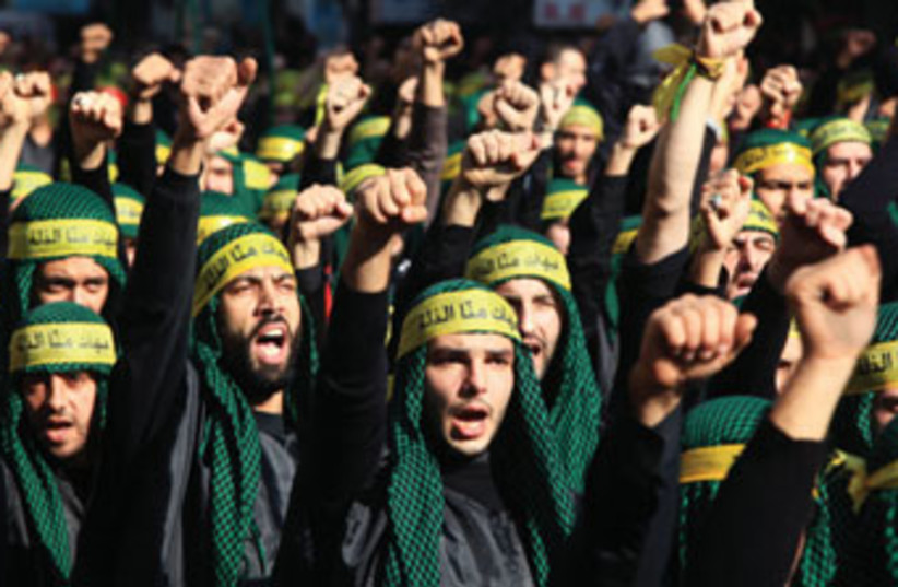 Hezbollah supporters Beirut 370 (photo credit: Reuters)