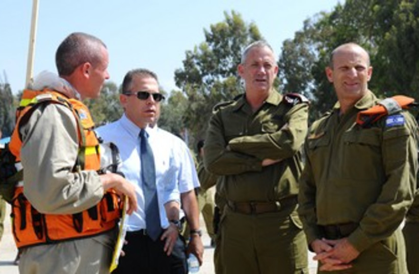 Benny Gantz looking cross (photo credit: IDF Spokesman )
