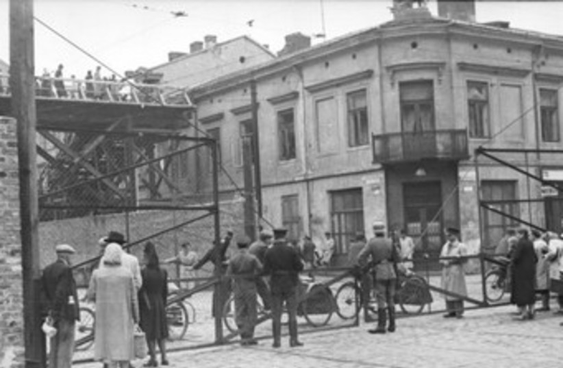 Warsaw Ghetto  (photo credit: Wikimedia Commons)