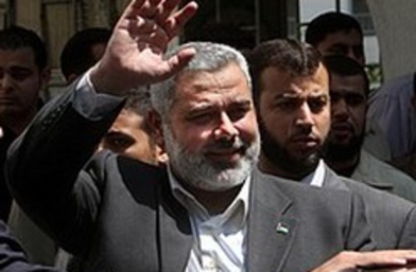 Haniyeh says hi 248 88 AP (photo credit: AP [file])