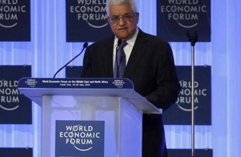 Mahmoud Abbas addresses the World Economic Forum, May 25, 2013.