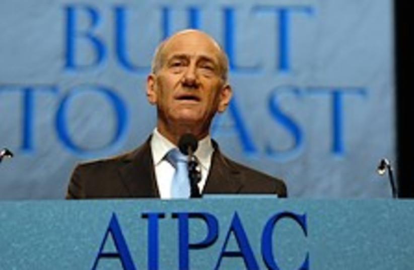 Olmert AIPAC 224.88 (photo credit: GPO)