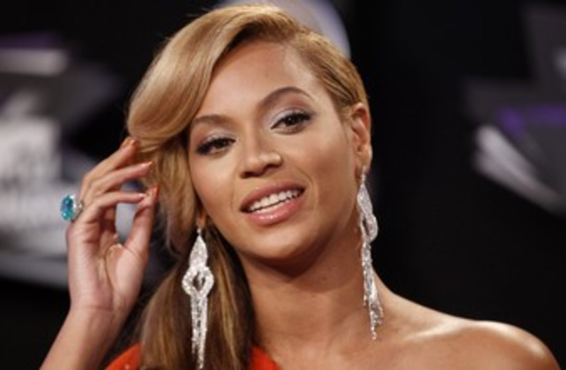 Singer Beyonce at the 2011 MTV Music Video Awards 370 (photo credit: REUTERS)