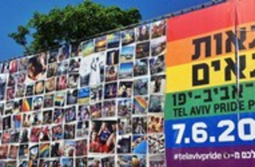 Rainbow flag in Rabin Square made up of public's photos 300 (photo credit: Courtesy Tel Aviv Municipality)