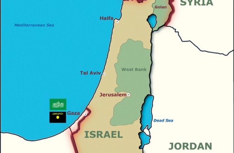 Map of Israel 521 (photo credit: Graphic by Pierre Narais (ICEJ))
