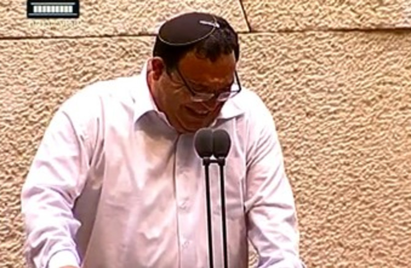 Shai Piron giggling (photo credit: YouTube Screenshot)