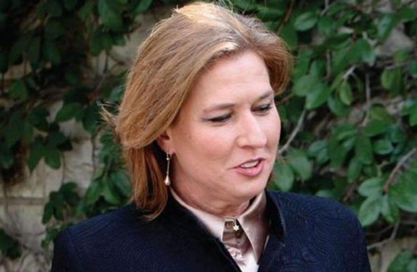 Livni (photo credit: Reuters)