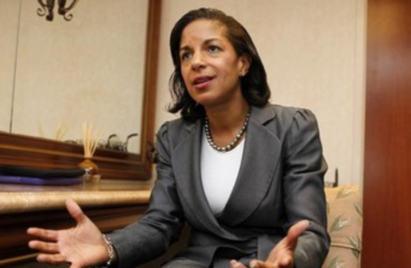 National Security Adviser Susan Rice 370 (photo credit: REUTERS)