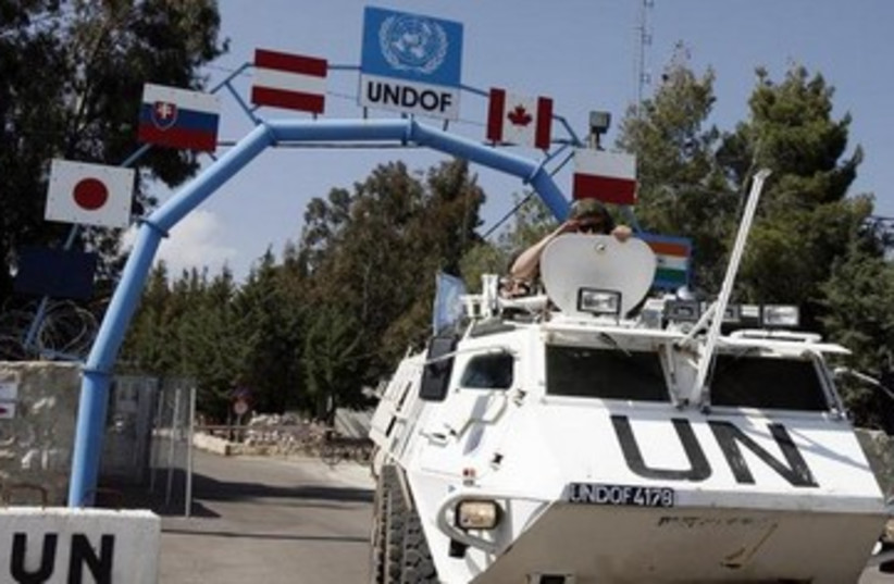 UNDOF peacekeepers in the Golan 370 (photo credit: REUTERS)