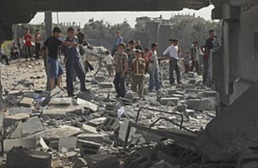 air strike rubble 298 (photo credit: AP)