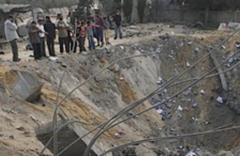 Gaza crater 224.88 (photo credit: AP)