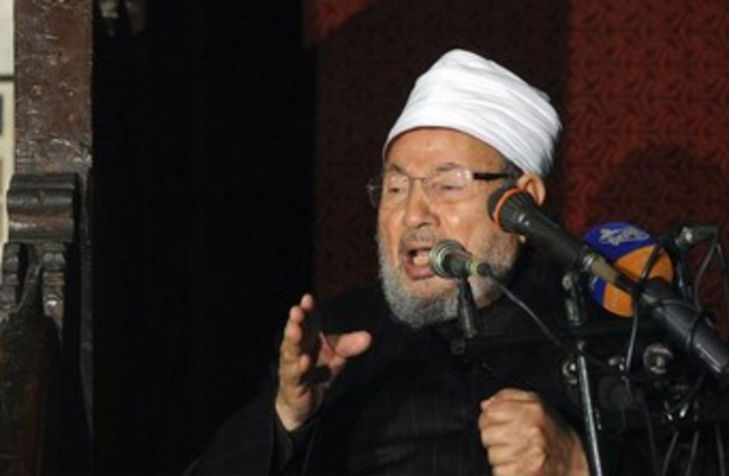 Sheikh Yusuf al-Qaradawi 370 (photo credit: REUTERS/Amr Abdallah Dalsh)