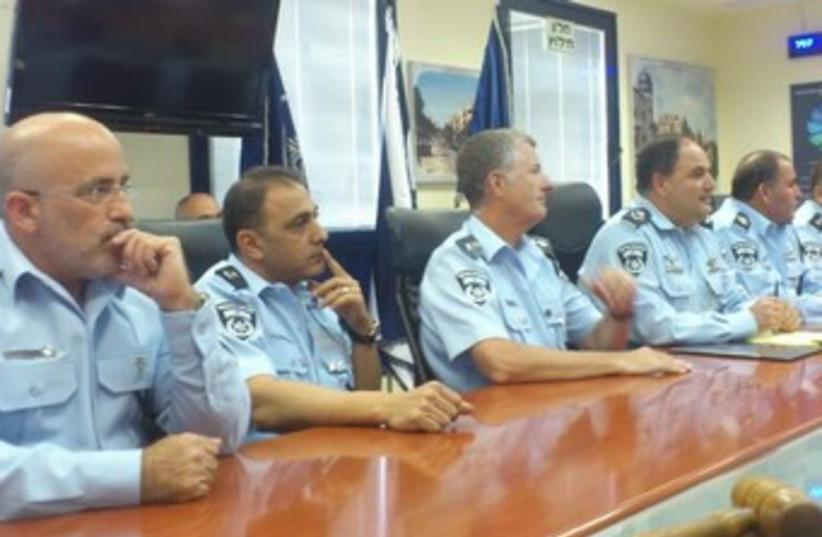 Israel Police press briefing370 (photo credit: Ben Hartman )