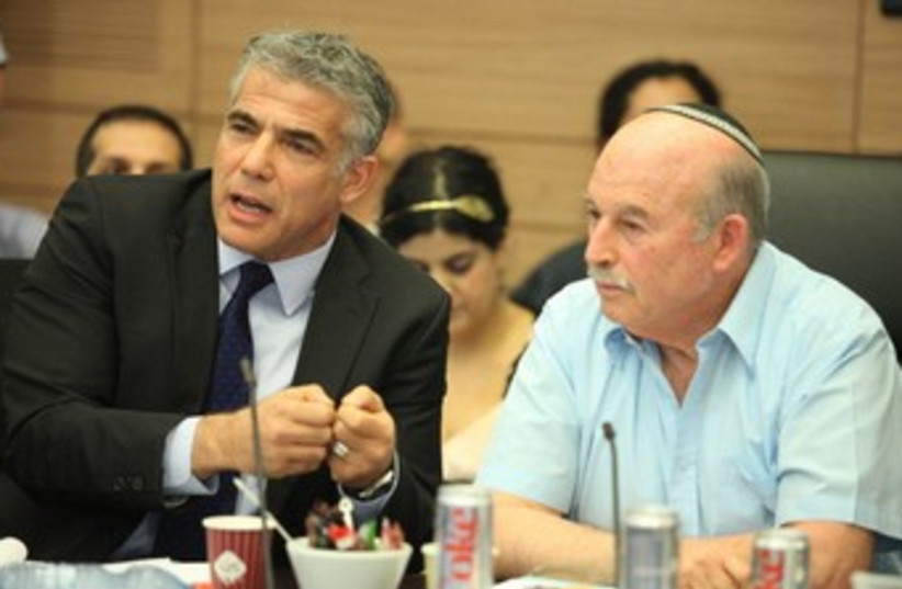 Lapid at Finance C'tee meeting 370 (photo credit: Knesset)