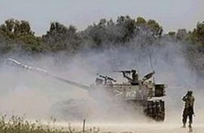 Gaza artillery 248.88 (photo credit: AP)