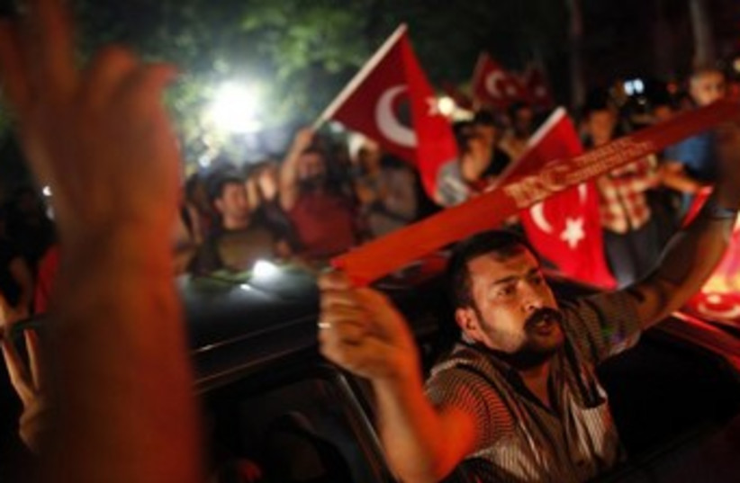turkey protesters 370 (photo credit: REUTERS)