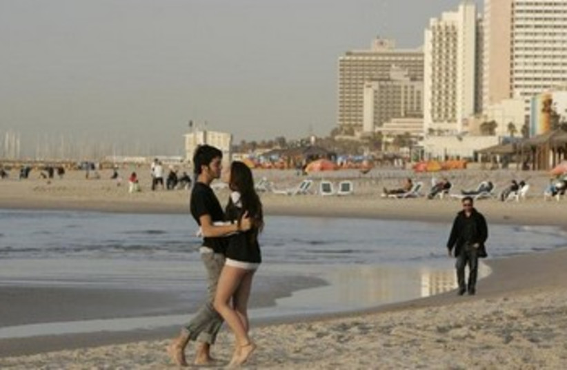 Tel Aviv beach (photo credit: Hadas Parush)