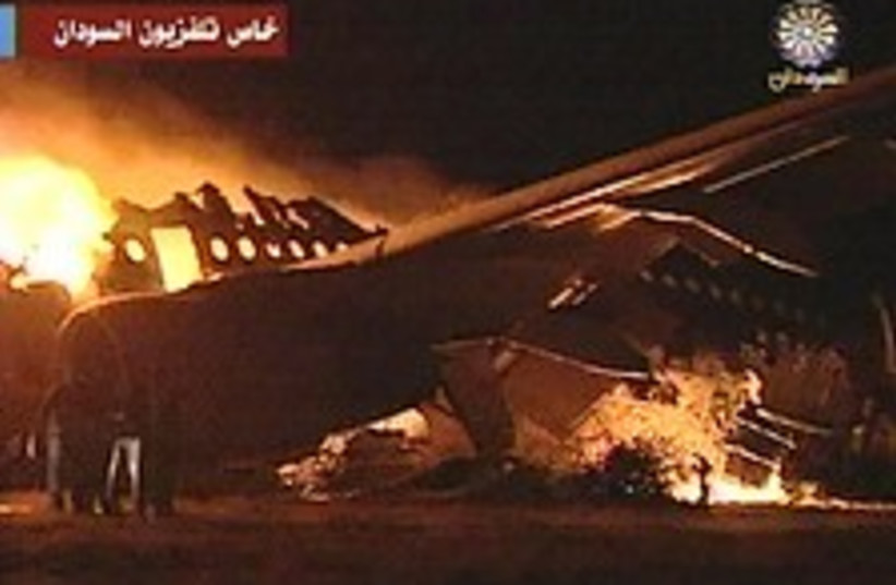 Sudan plane crash 224.88 (photo credit: AP)