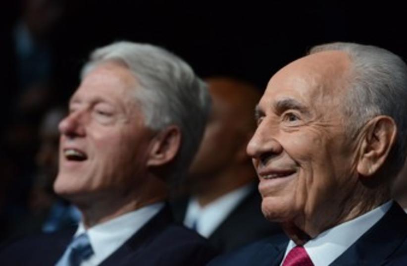 Peres at his 90th birthday 370 (photo credit: Koby Gidon/GPO)