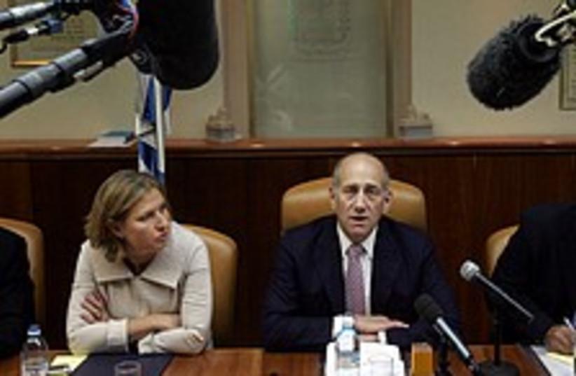 olmert cabinet 224.88 (photo credit: AP)
