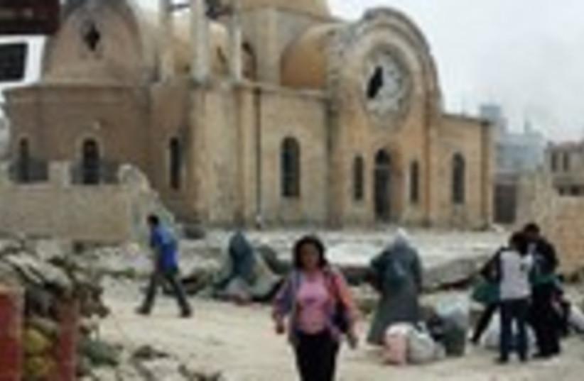 rubble in Qusair 150 (photo credit: REUTERS)