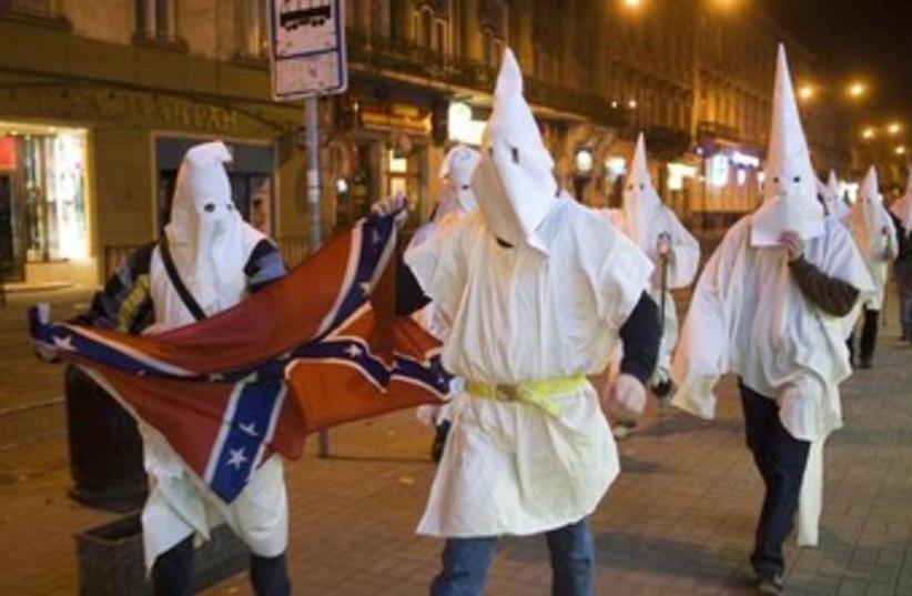 KKK members 370 (photo credit: REUTERS/Vasily Fedosenko)