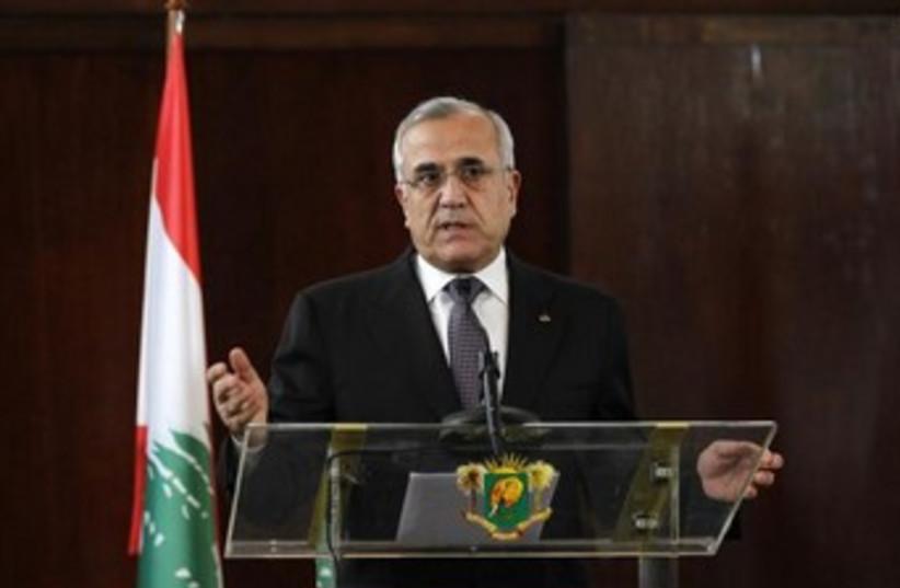 Lebanon's President Michel Suleiman 370 (photo credit: REUTERS/Luc Gnago )