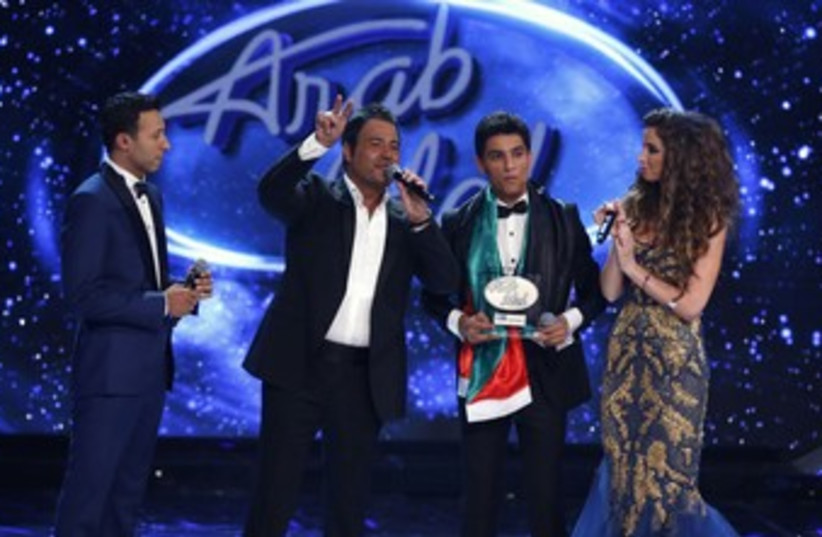 Mohammed Assaf  after Arab Idol win370 (photo credit: REUTERS)
