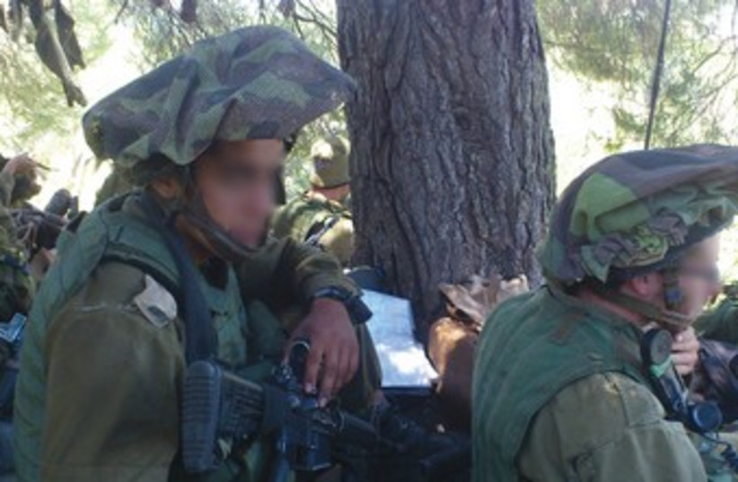 SOLDIERS FROM the Shahaf Battalion 370 (photo credit: Yaakov Lappin)