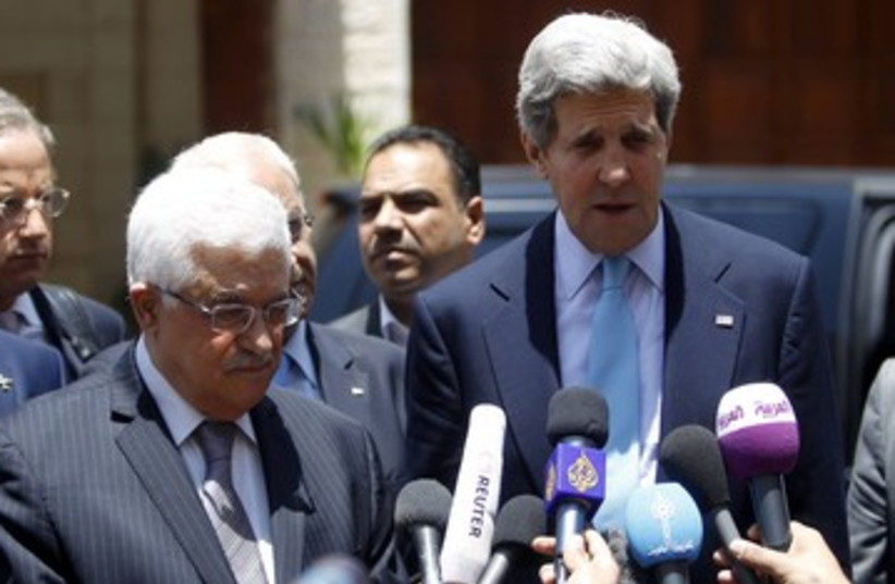 Kerry and Abbas 370 (photo credit: REUTERS)