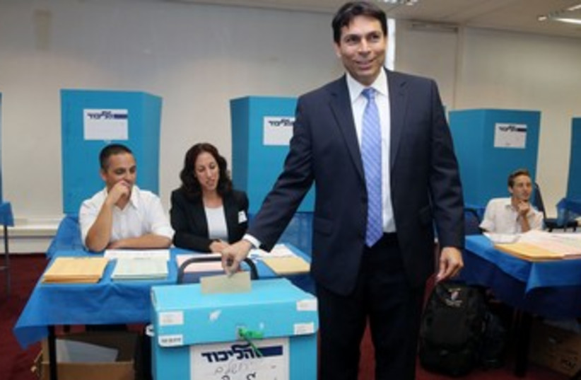 Danny Danon voting at Likud elections 370 (photo credit: Marc Israel Sellem/The Jerusalem Post)