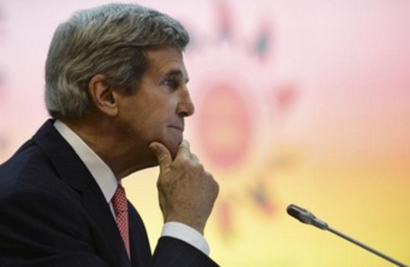 john kerry looking thoughtful 370 (photo credit: REUTERS)