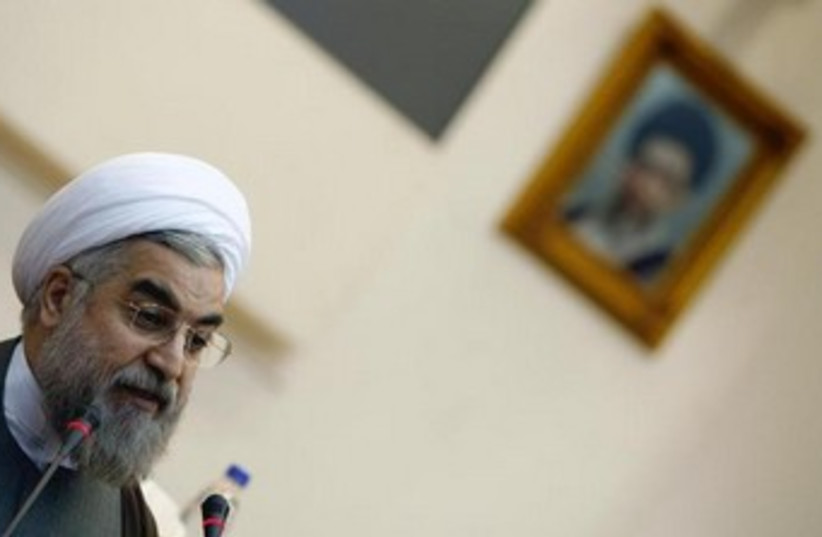 Iran's new president Hassan Rouhani 370 (photo credit: Reuters)